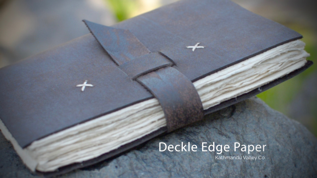 Deckle Edge Paper - Nepali Traveler Journal - Kathmandu Valley Co.