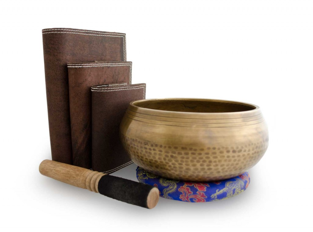 Nepali Recorder Journal with Tibetan Singing Bowl