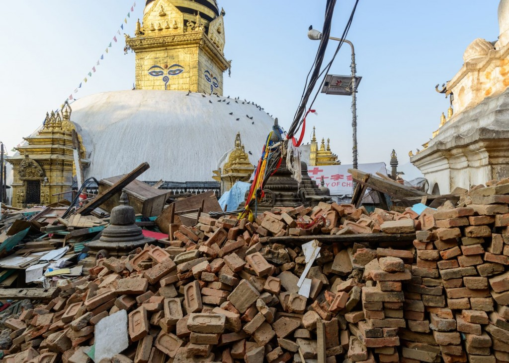 Damage from Kathmandu Earthquake