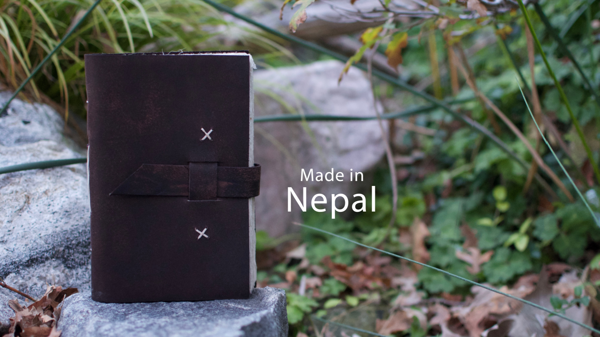 Nepali Traveler Rustic Leather Journal