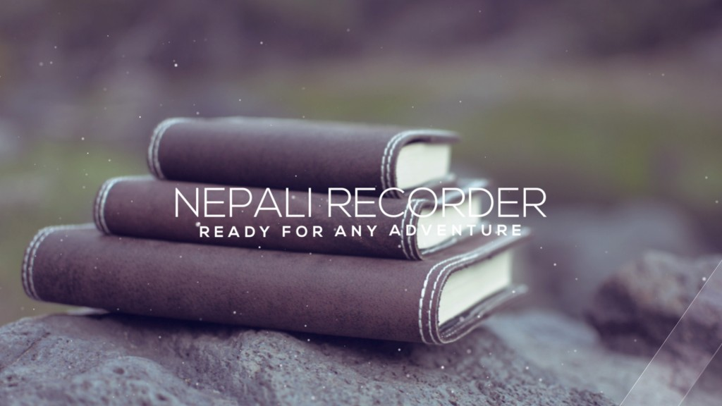 Nepali Recorder Rustic Leather Journal