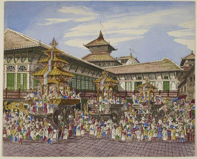 Hanuman Dhaka by Henry Ambrose Oldfield