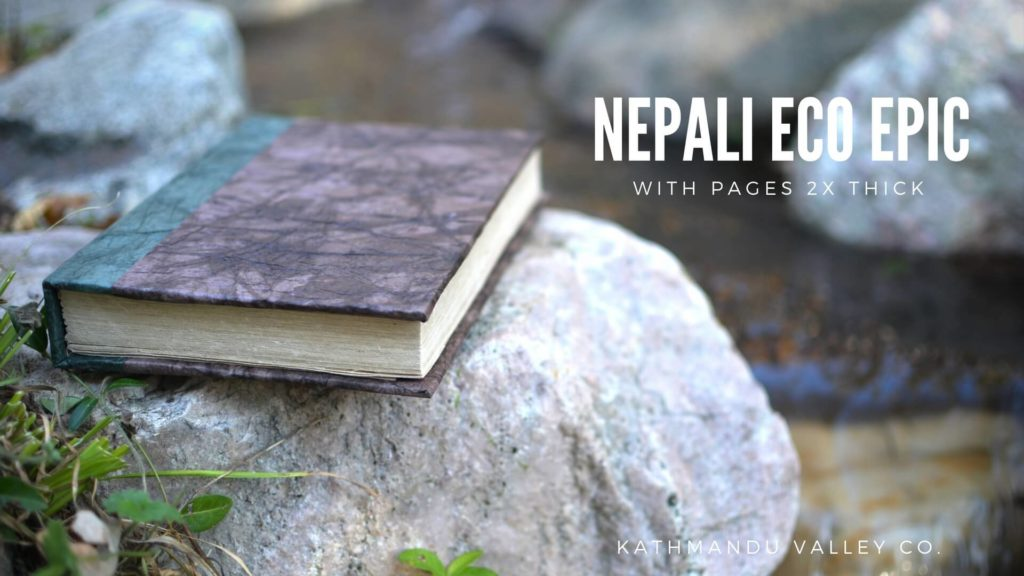 Nepali Eco Epic Vegetable Dyed Walnut with extra thick pages