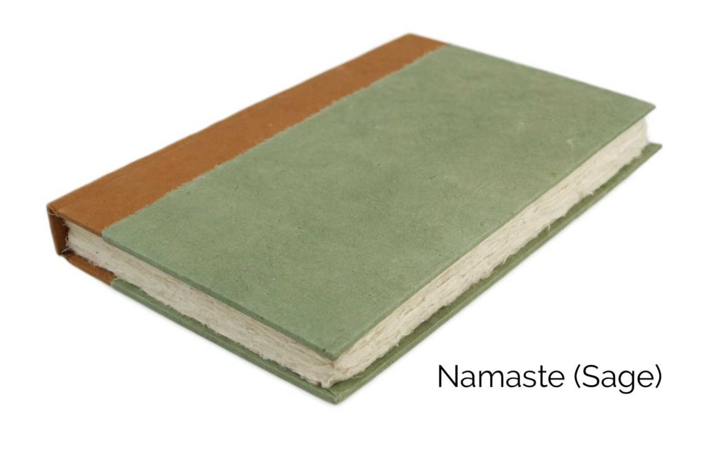 Nepali Namaste 6x9 Vegetable-Dyed Journal by Kathmandu Valley Co. - Sage