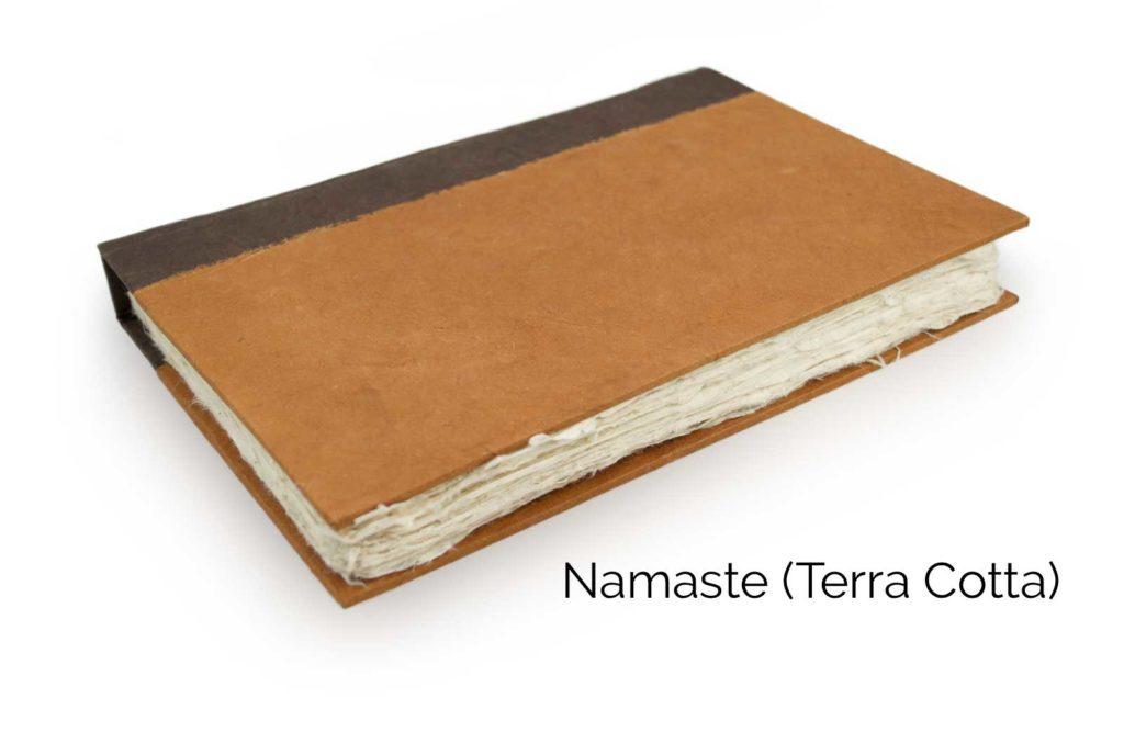 Nepali Namaste 6x9 Vegetable-Dyed Journal by Kathmandu Valley Co. - Terra Cotta