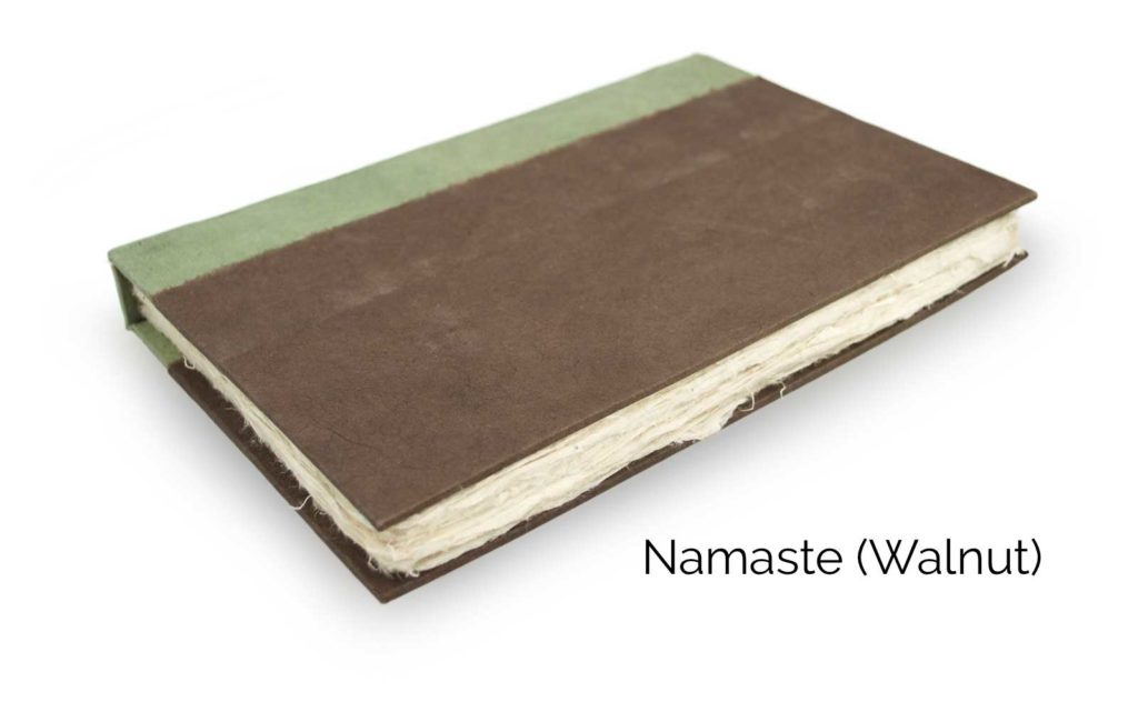 Nepali Namaste 6x9 Vegetable-Dyed Journal by Kathmandu Valley Co. - Walnut