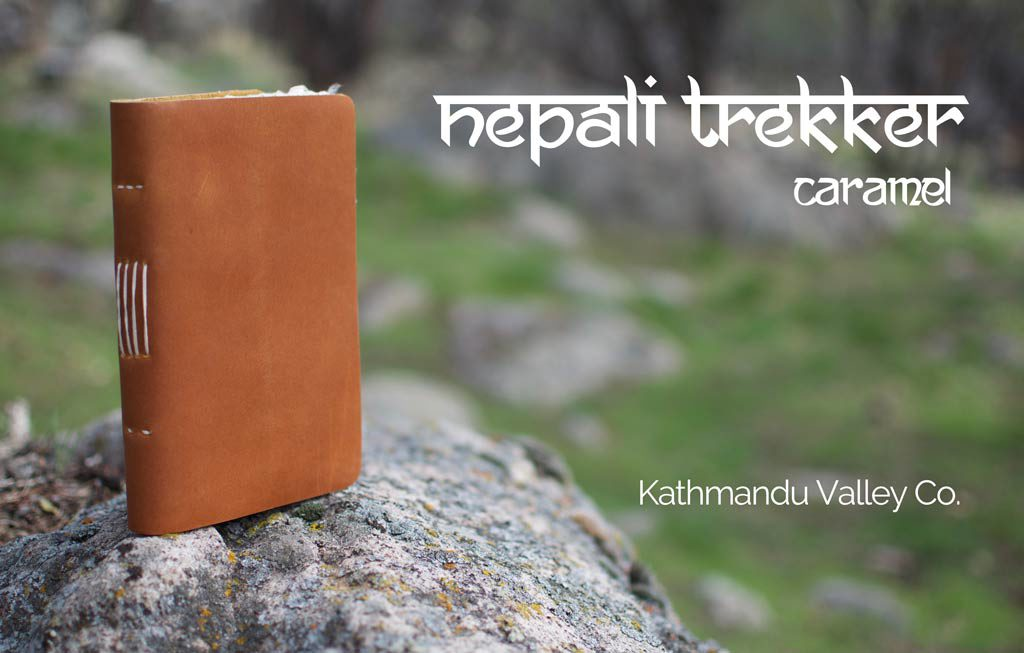 Nepali Trekker Rustic Leather Journal - Caramel