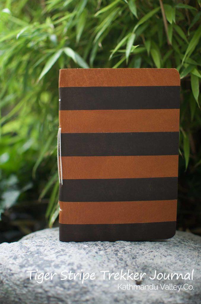 Nepali Trekker Tiger Stripe Vintage Rustic Handmade Journal