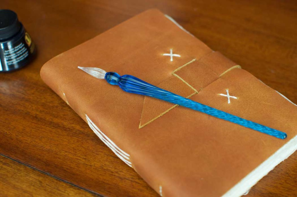 Glass Dip Pen with Traveler Journal - Kathmandu Valley Co.