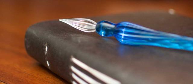 Glass Dip Pen on Lokta Paper