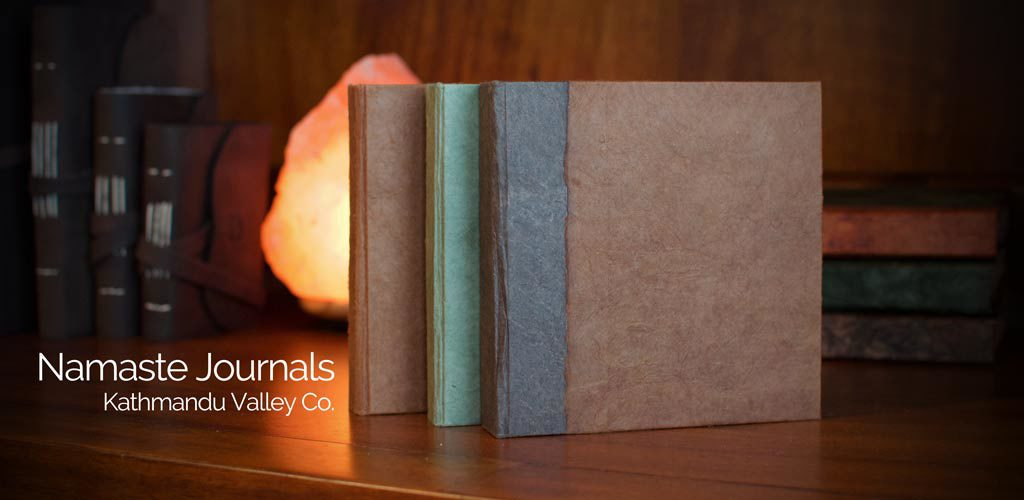 Namaste Vintage Journals by Kathmandu Valley Co. Made in Nepal.
