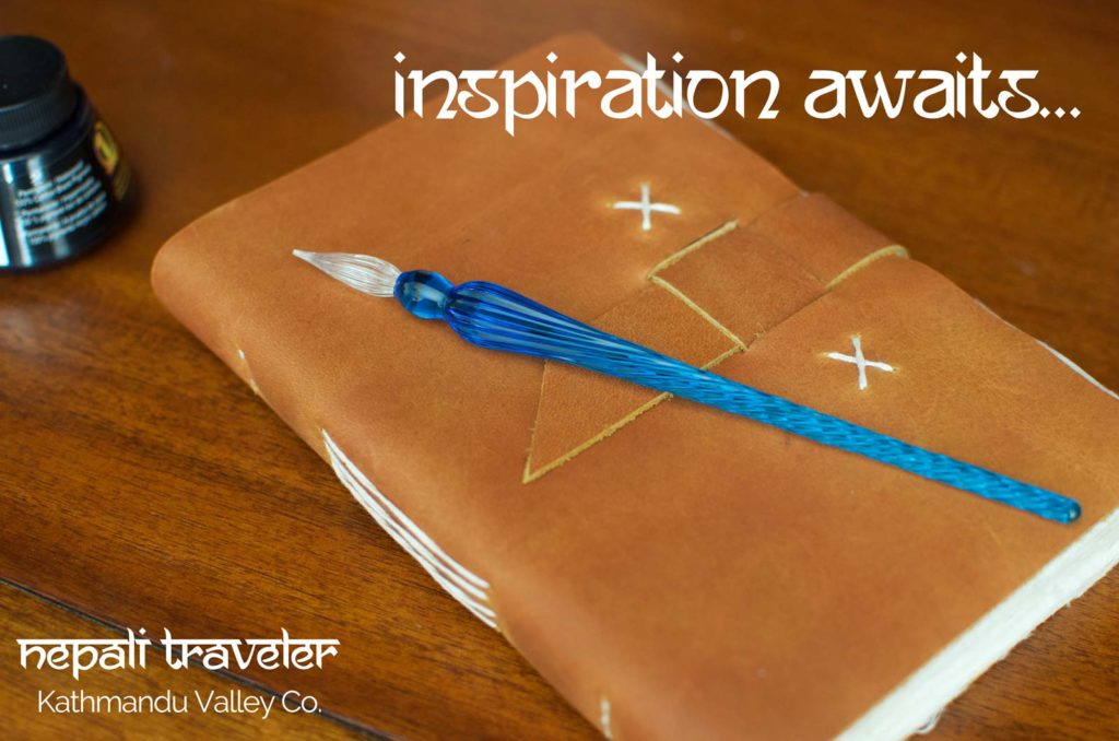 Writing Inspiration - Nepali Traveler Rustic Leather Journal