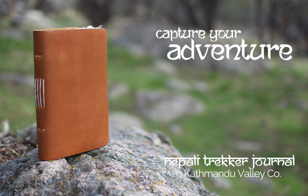 Nepali Trekker Vintage Leather Journal - Kathmandu Valley Co. Made in the Himalayas of Nepal.