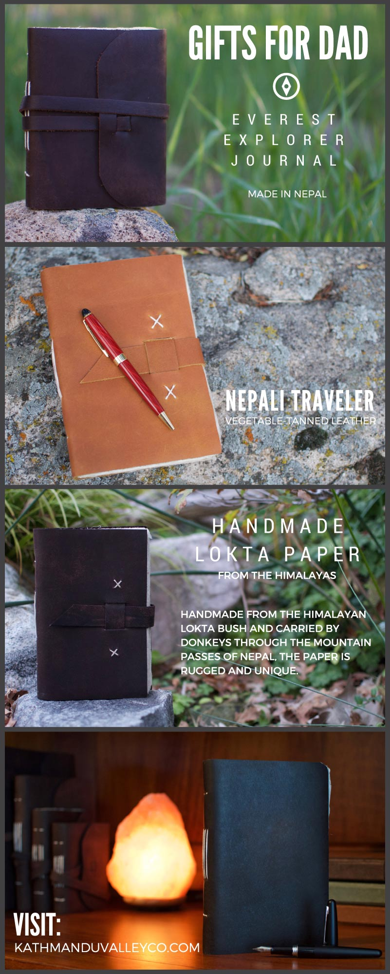 Vintage Leather Journals Gift Ideas - Kathmandu Valley Co.