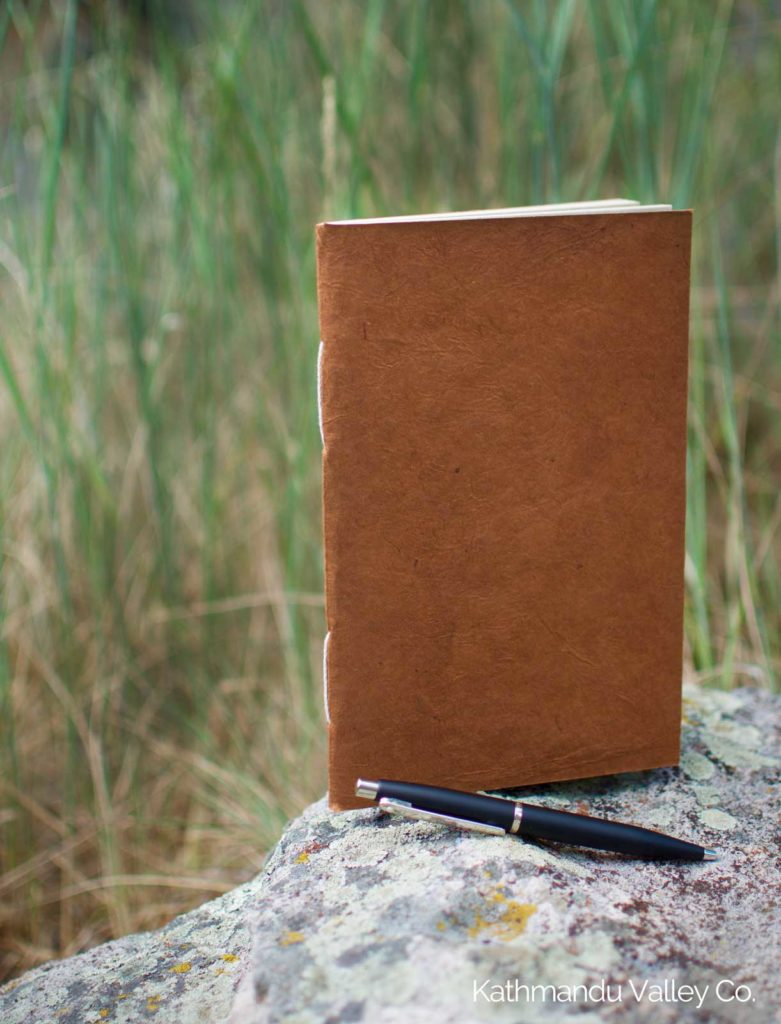 Nepali Companion Lokta Paper Notebook - Medium Terra Cotta - Handmade in Nepal