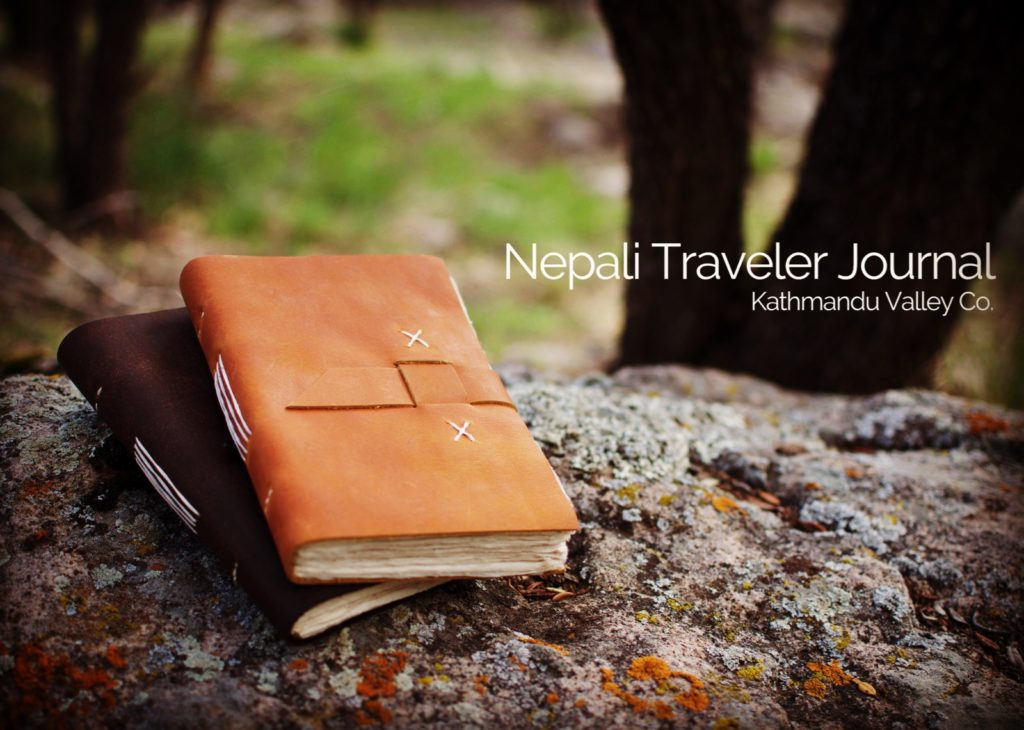 Nepali Traveler Leather Journal Made in Nepal KMVCO