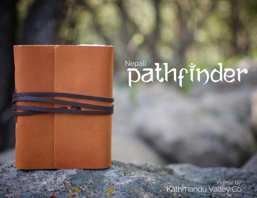 Nepali Pathfinder Rustic Leather Journal - Kathmandu Valley Co.