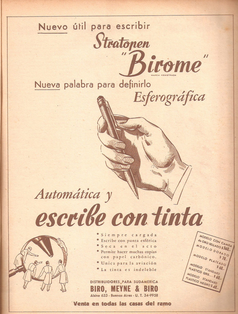 Antique Ballpoint Pen Advert
