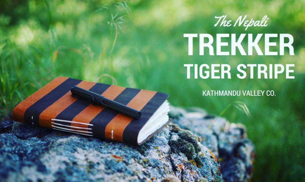 Nepali Trekker Tiger Stripe Rustic Leather Journal by Kathmandu Valley Co.