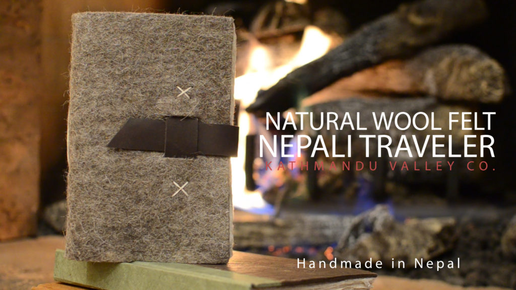 Nepali Traveler Wool Felt Journal