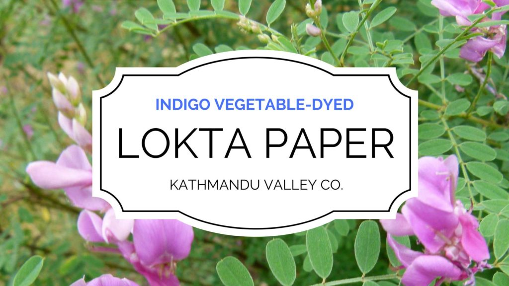 Indigo Vegetable-dyed Lokta Paper by Kathmandu Valley Co.