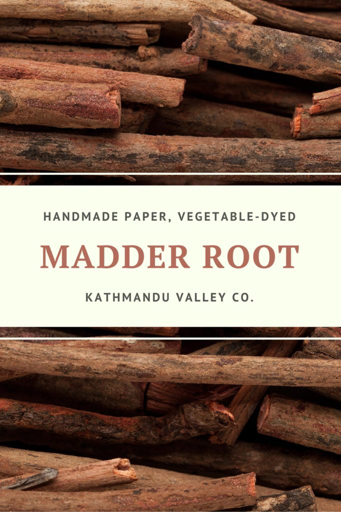Madder Root Vegetable Dye for Handmade Printer Paper