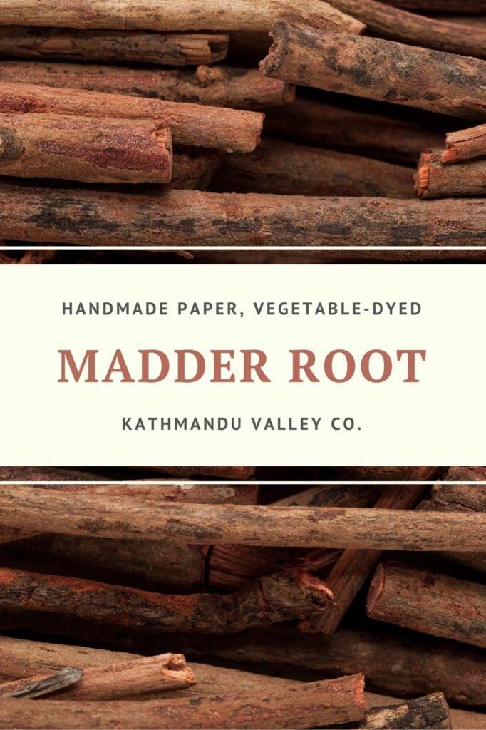Madder Root Vegetable Dye for Handmade Printer Paper