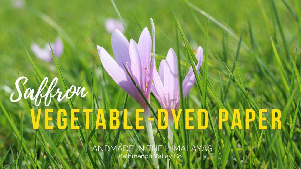 Handmade Lokta Printer Paper - Natural Saffron
