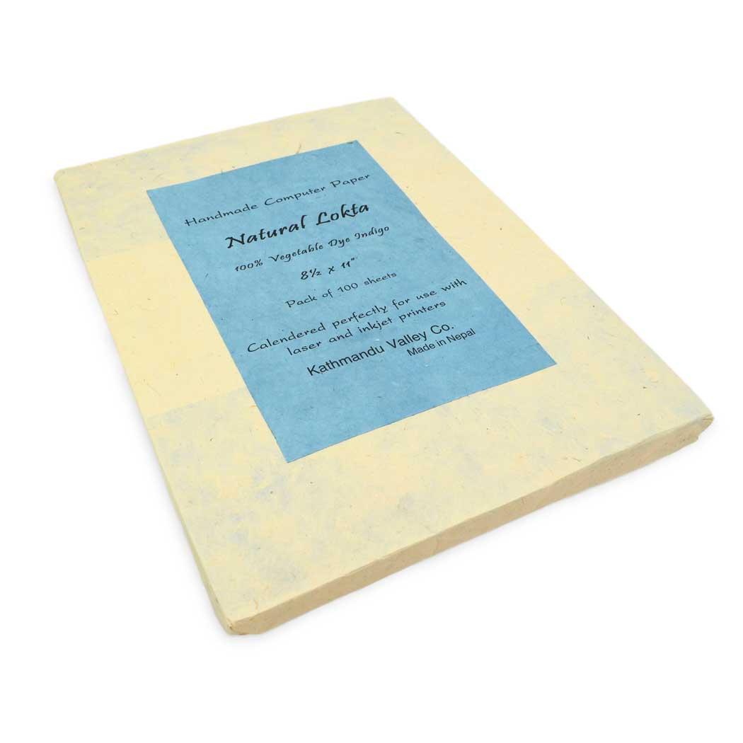 Natural Lokta Computer Paper (Indigo)