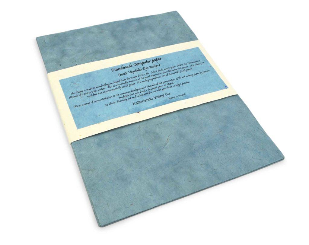 Natural Computer Lokta Paper - Indigo