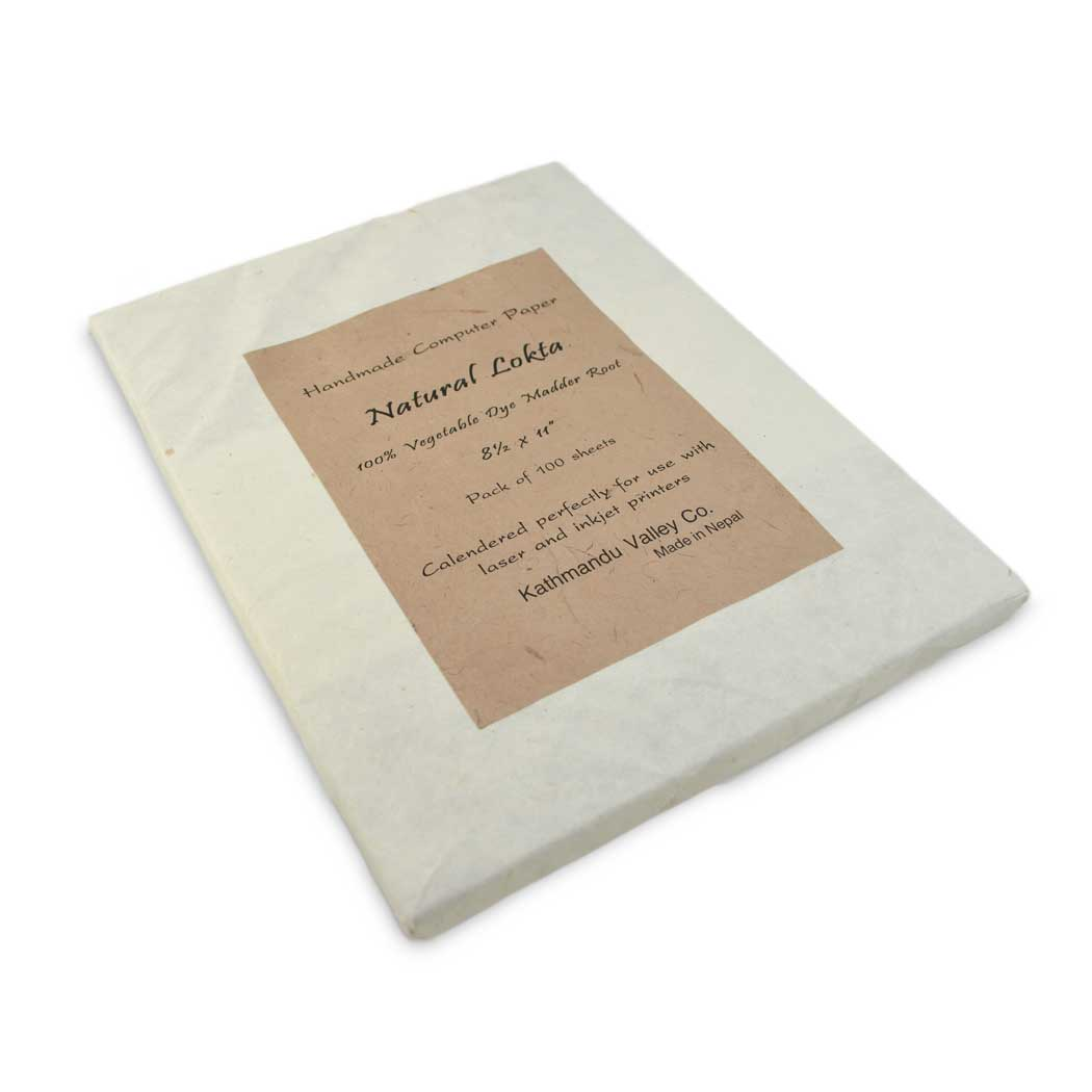 Natural Lokta Printer Paper (Madder Root)