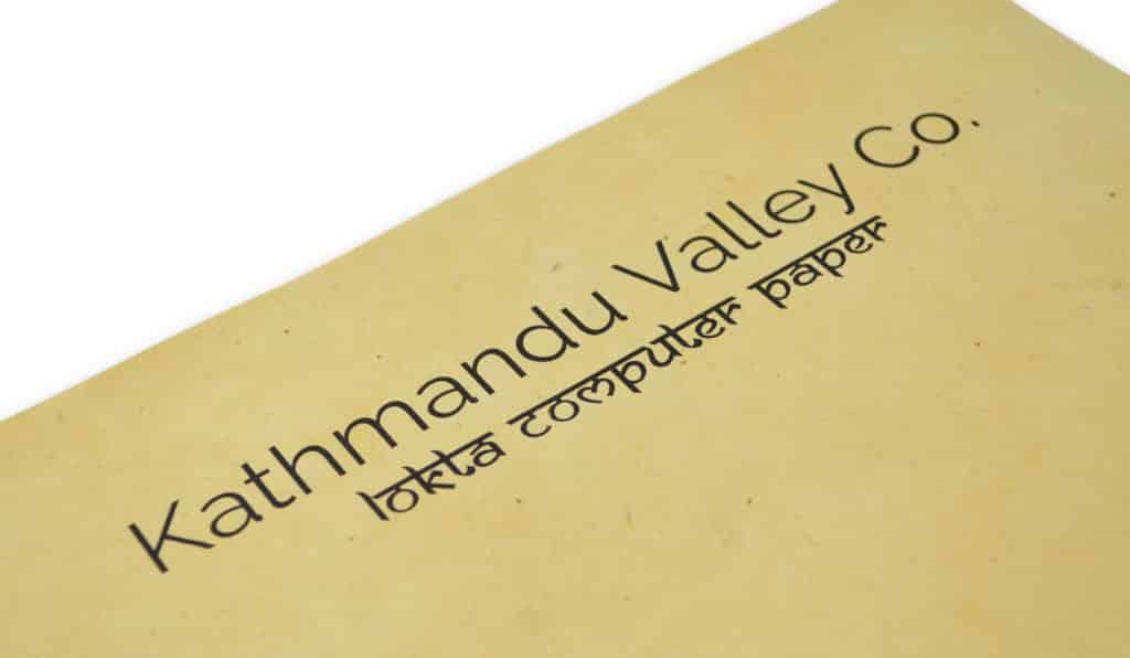 Kathmandu Valley Co. Lokta Paper Saffron