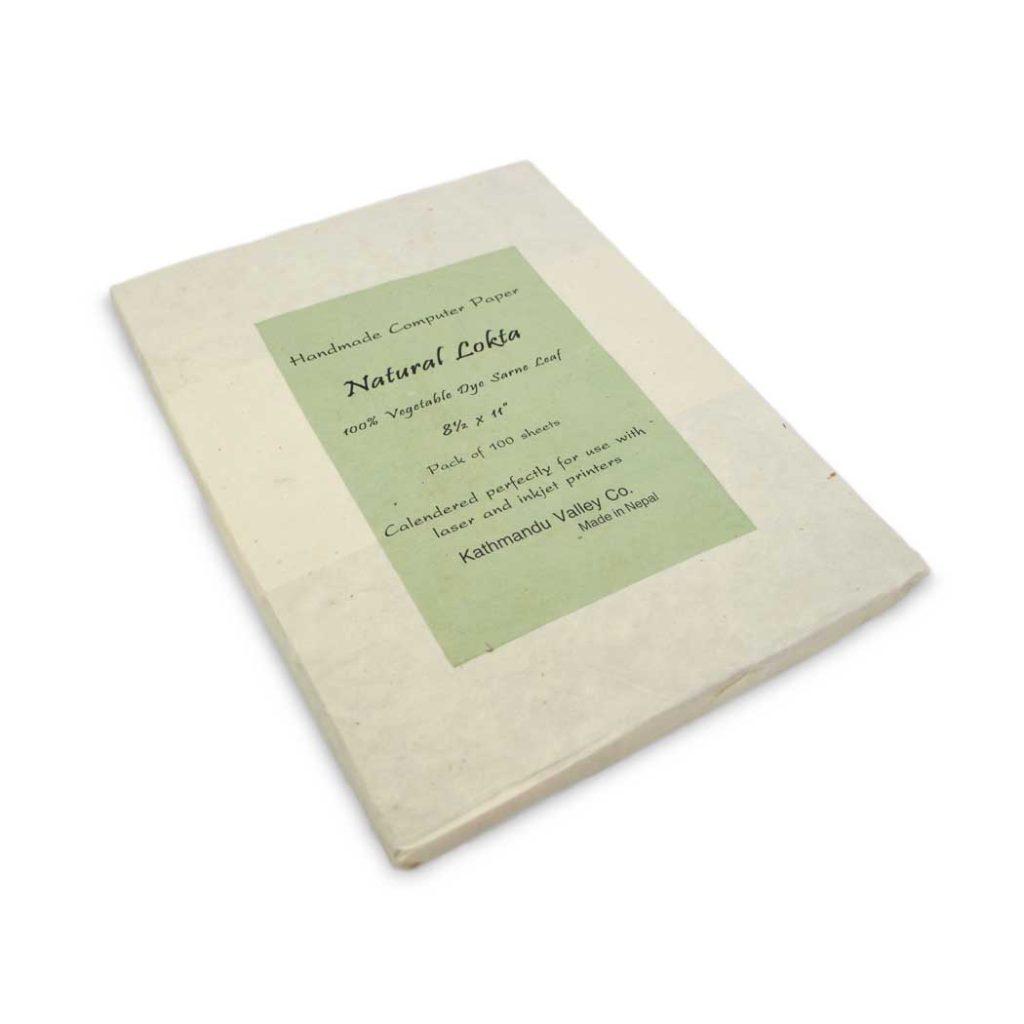 Sarne Leaf Vegetable-dyed Handmade Lokta Printer Paper