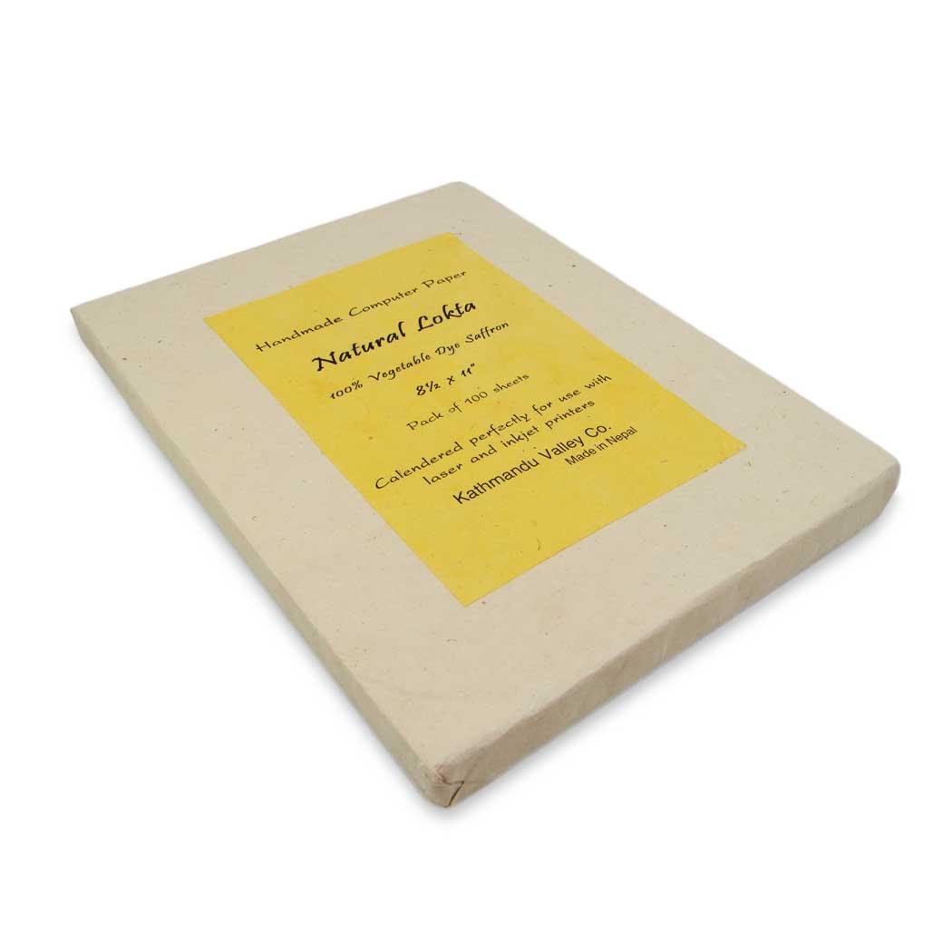 Natural Lokta Computer Paper (Saffron)