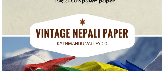 Handmade in the Himalayas: Natural Printer Paper