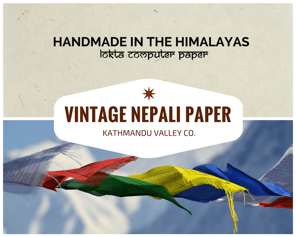 Handmade Printer Paper from Nepal by Kathmandu Valley Co.