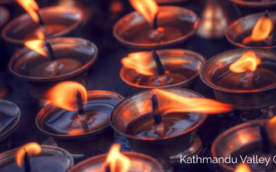Butter Lamps in Nepal