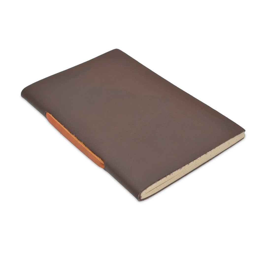 Nepali Field Book Vintage Leather Notebook Walnut Medium