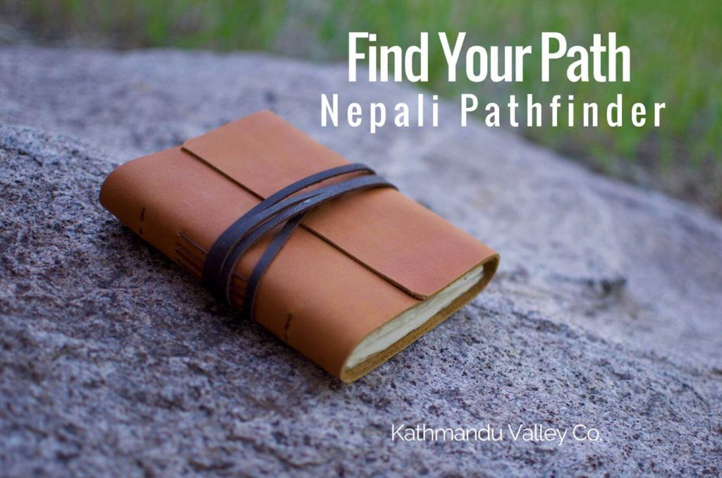 Nepali Pathfinder Leather Writing Journal and Notebook