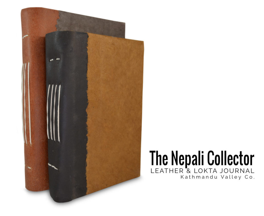 Nepali Collector Lokta and Leather Journal
