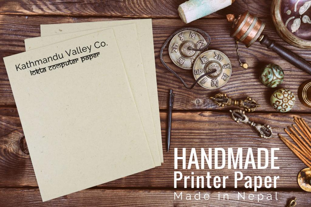 Lokta Paper Printer Paper by Kathmandu Valley Co