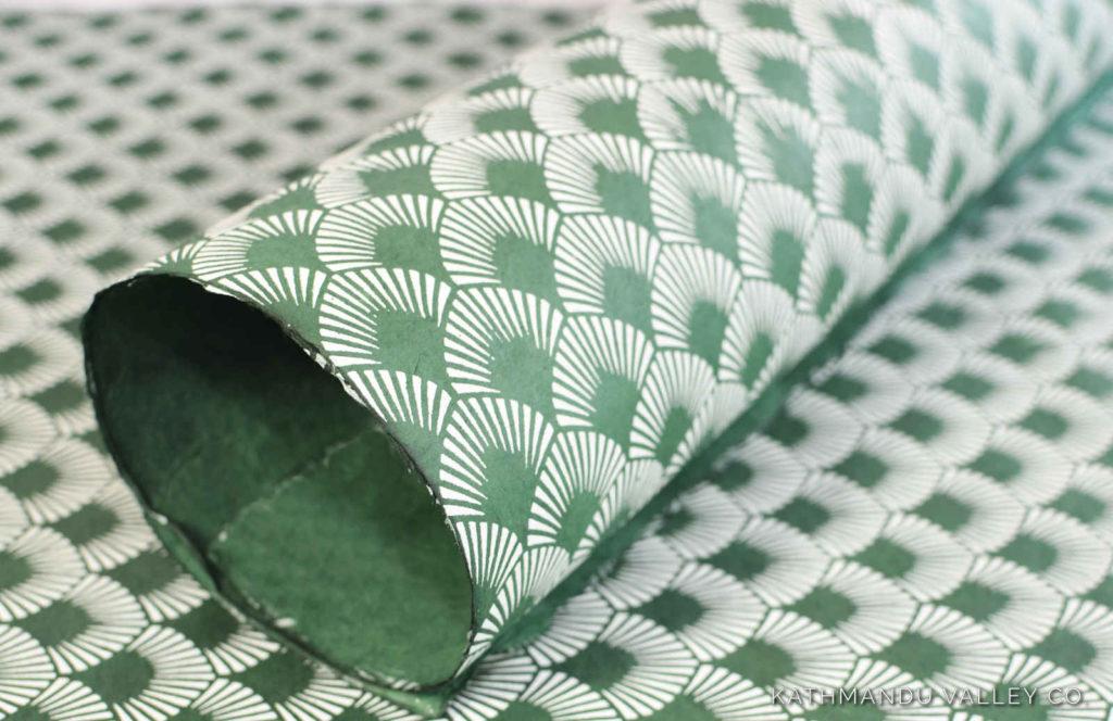 Fantastic Fan Natural Lokta Wrapping Paper by Kathmandu Valley Co.