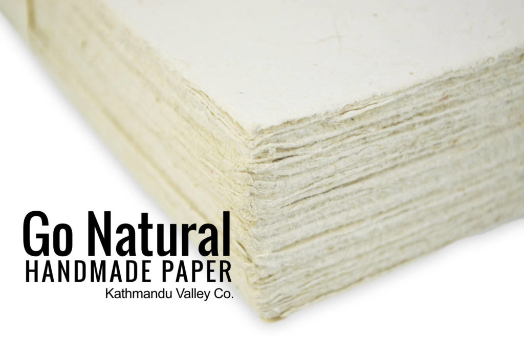 Natural Lokta Card Stock Thick Handmade Paper