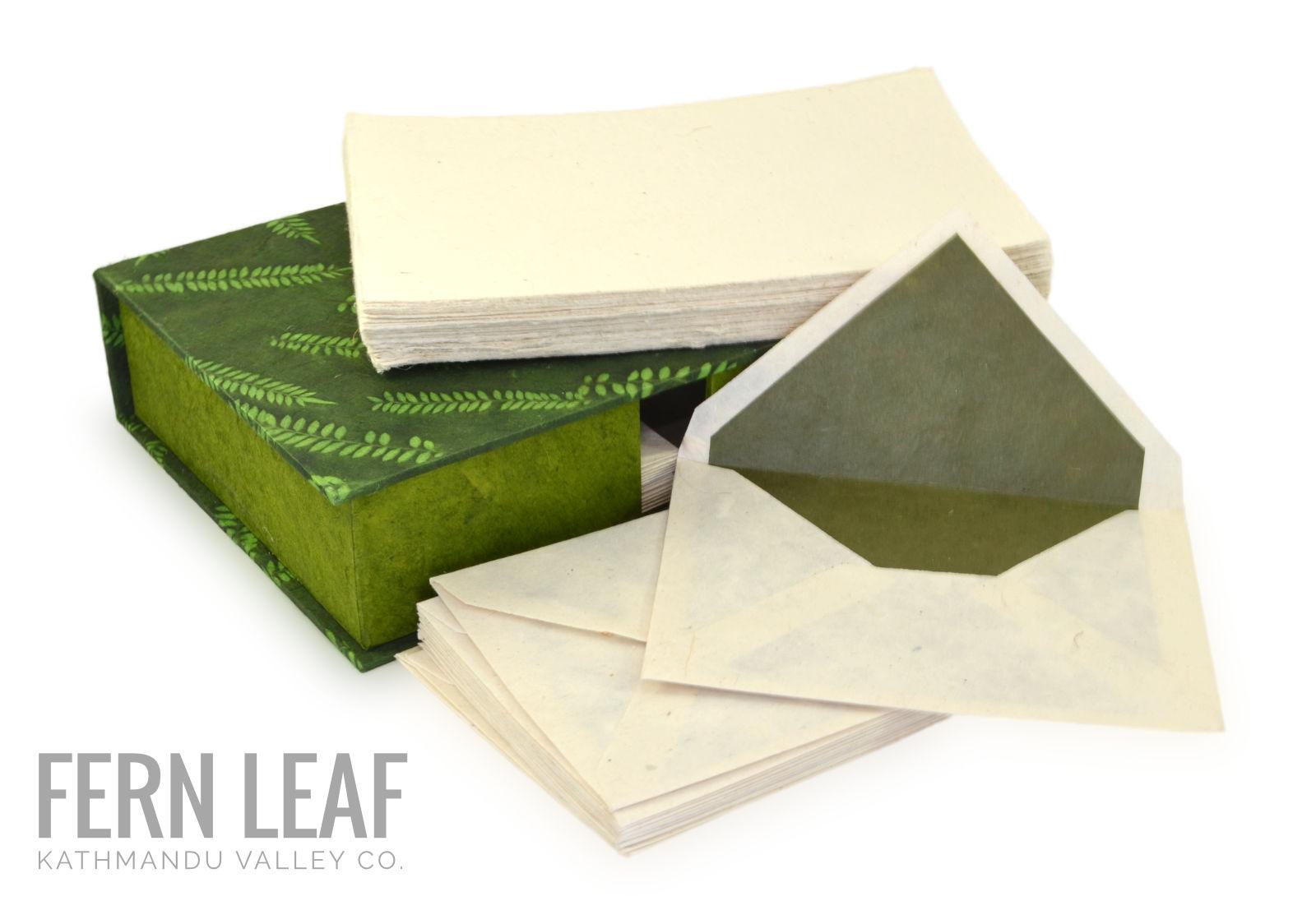Kathmandu Valley Co. Stationery Gift Box Fern Leaf